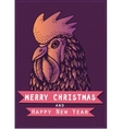 colored cock for the New year 2017 on dark vector image