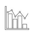 diagram bar chart business template elements vector image