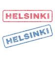 helsinki textile stamps vector image