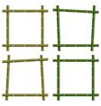 set empty frames of bamboo stalks vector image