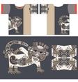 t-shirt design with unique decorative fantasy vector image