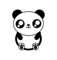 panda bear kawaii cute animal icon vector image
