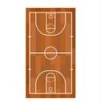 Basketball field vector image
