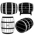 set of different barrels vector image vector image