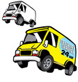 commercial cartoon van vector image vector image