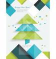 Christmas tree and decorations on winter vector image vector image
