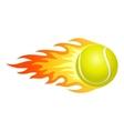 Flaming tennis ball vector image vector image