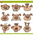 dog emoticons cartoon set vector image vector image
