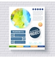 Business report design template vector image