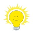 bright electric bulb vector image