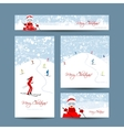 Business cards design People skiing winter vector image