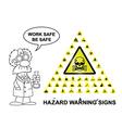 Hazard Warning Signs vector image vector image