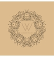 Calligraphic elegant floral monogram design vector image vector image