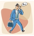Businessman talking on the phone bye vector image