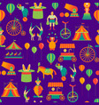 cartoon circus background pattern vector image
