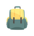 colorful backpack classic styled rucksack vector image