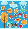 Different autumn elements vector image