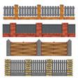 different brick wood fances vector image