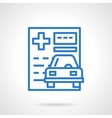 Insurance policy black line icon vector image