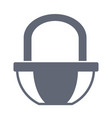 market basket symbol vector image