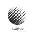 pop art halftone logo circles set vector image