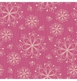 Seamless pattern with flowers on rose background vector image