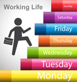 Working Life by business man vector image
