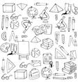 Hand draw school element doodles vector image