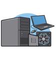 computer equipment vector image