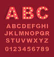 Font with lamps vector image
