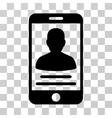 Mobile Account Icon vector image