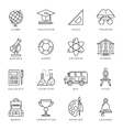 Monochrome School Icon Set vector image