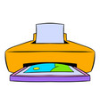photo printer icon cartoon vector image