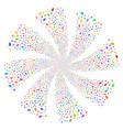 coffin fireworks swirl flower vector image