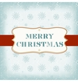 Template old Christmas card vector image vector image