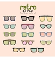 hipster retro glasses vector image
