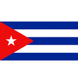 Cuban flag vector image vector image