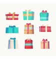 Gift set Christmas card poster banner vector image