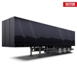 Blank black parked semi trailer vector image