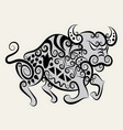 Bull ornament vector image