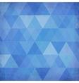 Blue vintage triangles background vector image