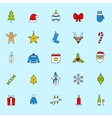 Christmas icons set Holiday New Year icons vector image