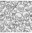 cute skulls pattern vector image