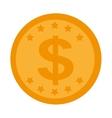 money economy coin icon vector image