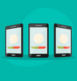 set phone at different angles vector image
