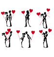 stock figure valentines day couple vector image