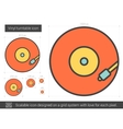 Vinyl turntable line icon vector image