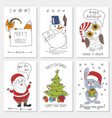 white paper cards with vector image
