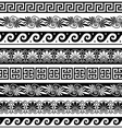 Ancient Greek pattern - seamless set vector image