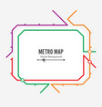 metro map  fictitious city public transport vector image